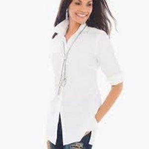 Chico's Effortless Cotton Lena Button Down Shirt